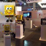 3Dプリンター製【大型スポンジボブ】パリのVIVAテックショーで展示